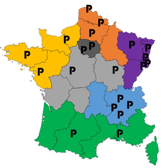Carte des soirées PULSE en France